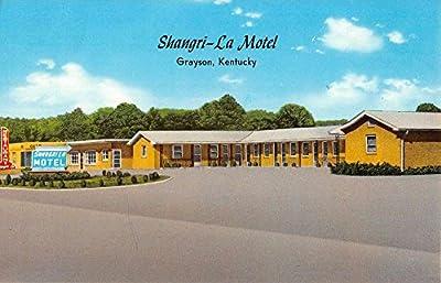 Grayson Kentucky Shangri La Motel Street View Vintage Postcard K64424