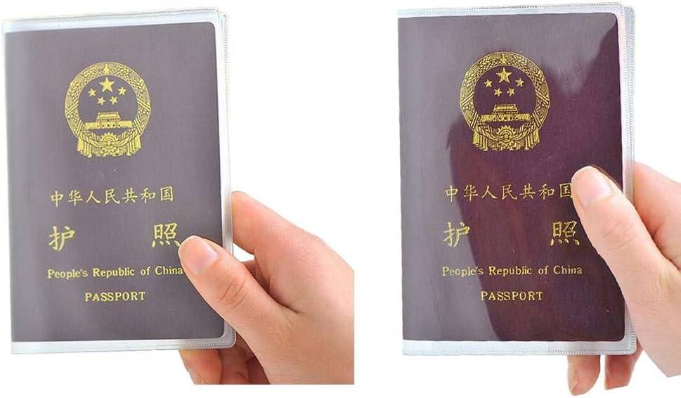 Stevlogs 10PCS Passport Transparent Protective Cover Plastic PVC Waterproof ID Card Protector Case