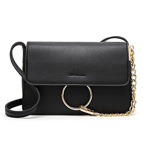 2018 New Ladies Style Ring Bucket Bag Shoulder Bag Fashion Trend Magnetic Buckle Retro - Ring Bucket