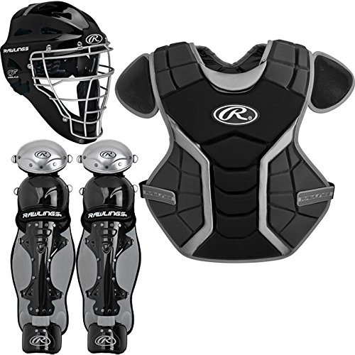Rawlings Sporting Goods Renegade Series Catcher Set (Ages 15 Plus), Black/Silver - Rawlings Catchers Gear Set