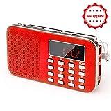[Upgraded Version] Portable Radio Pocket AM/FM Battery Operated Radio with Emergency Flashlight, Auto