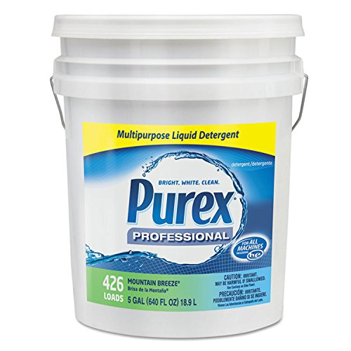 Purex 06354 Concentrate Liquid Laundry Detergent,, 5 gal Capacity, Mountain Breeze, Pail by Purex