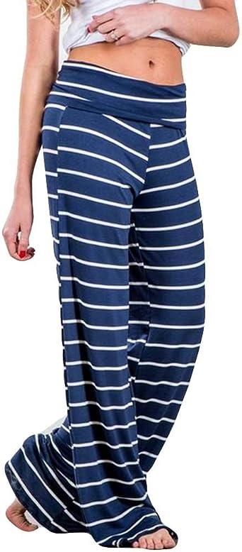 Luckycat Pantalones Profesionales De Yoga Sueltos Cintura Alta ...