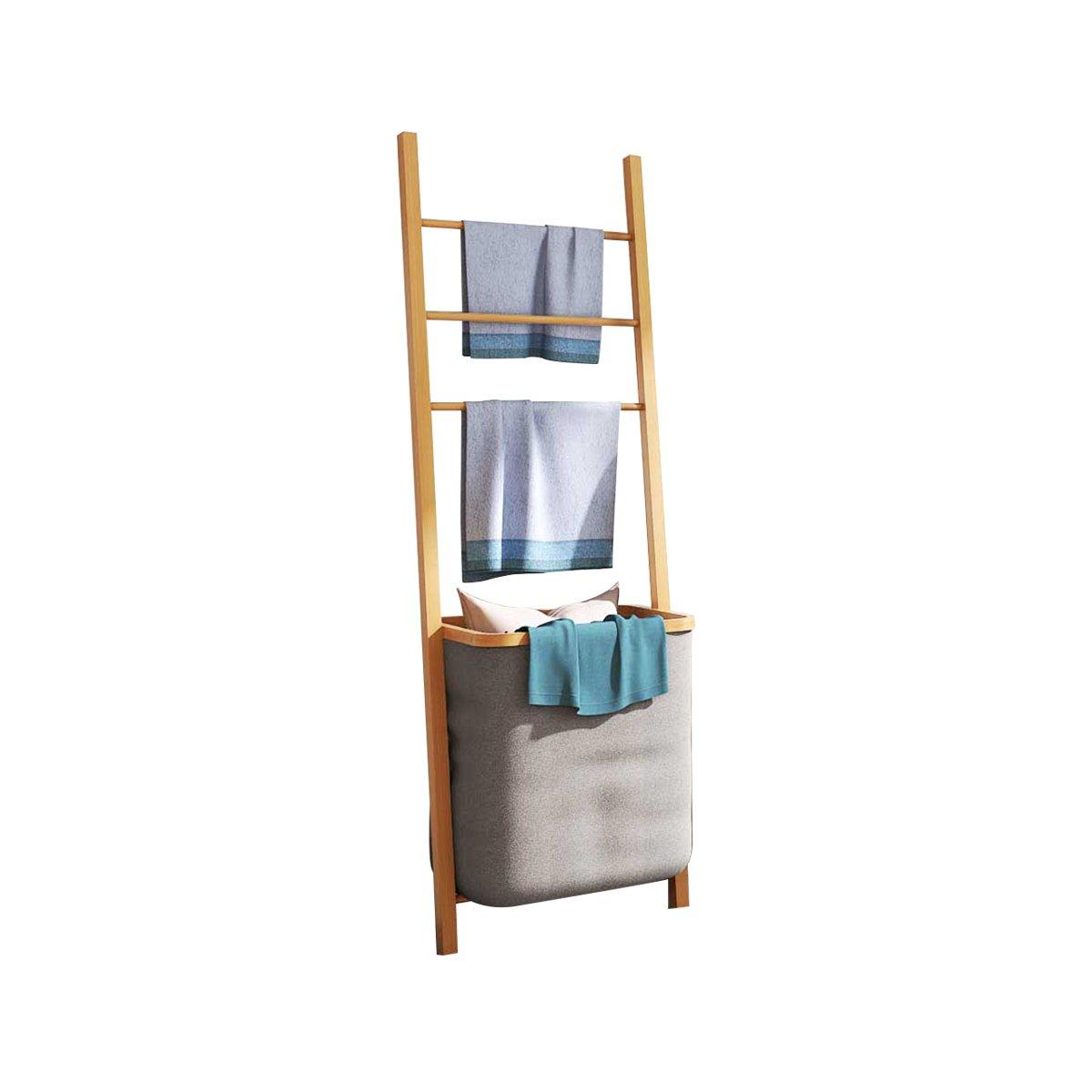 Enjoyable Laundry Basket Bamboo Towel Holder Towel Rack Washing Box Bin Storage Hamper Washing Cloth Basket Bathroom Shelf With Removable Laundry Basket Natural Download Free Architecture Designs Grimeyleaguecom