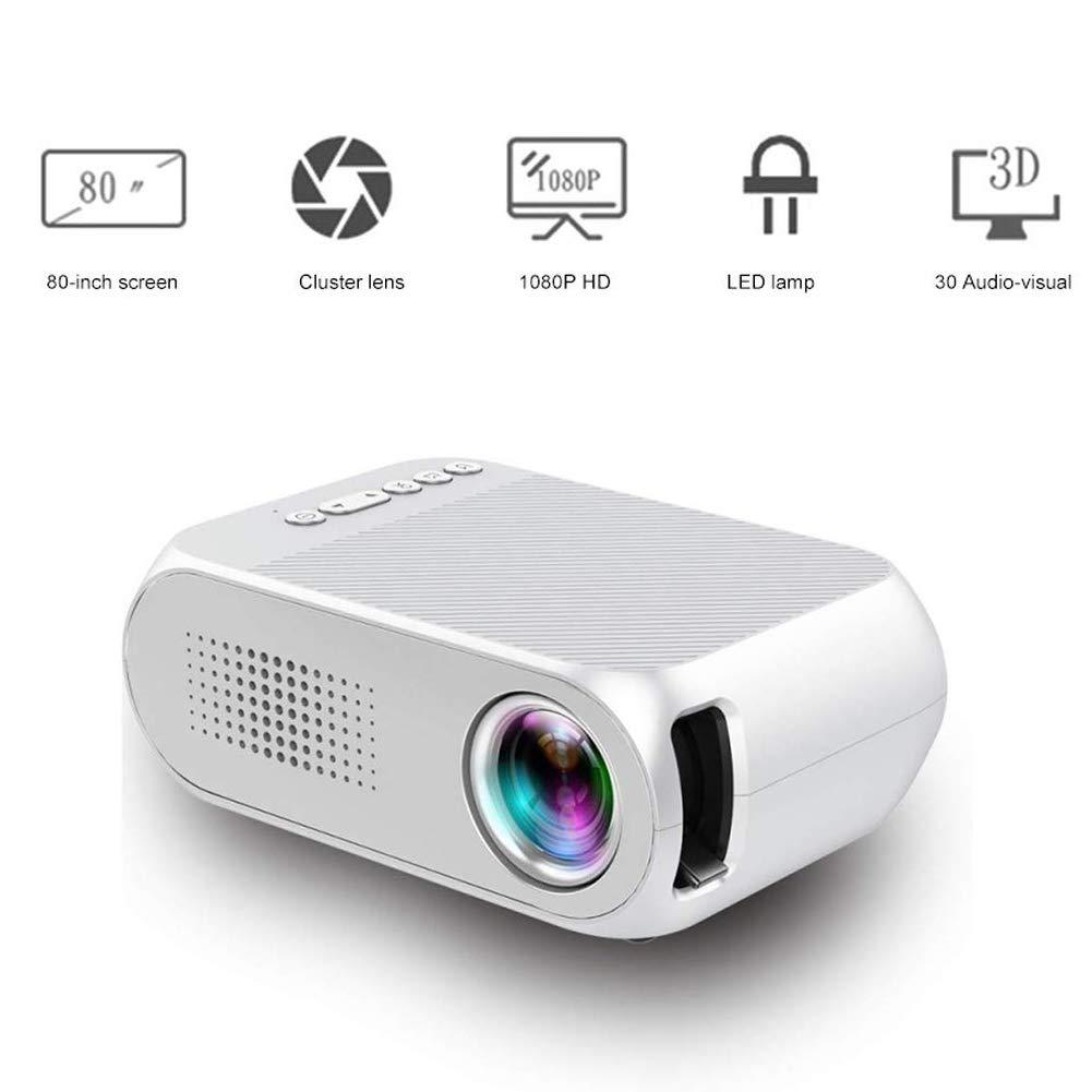 TongBao Mini proyector, portátil Soporte proyector 1080P MAX 80 ...