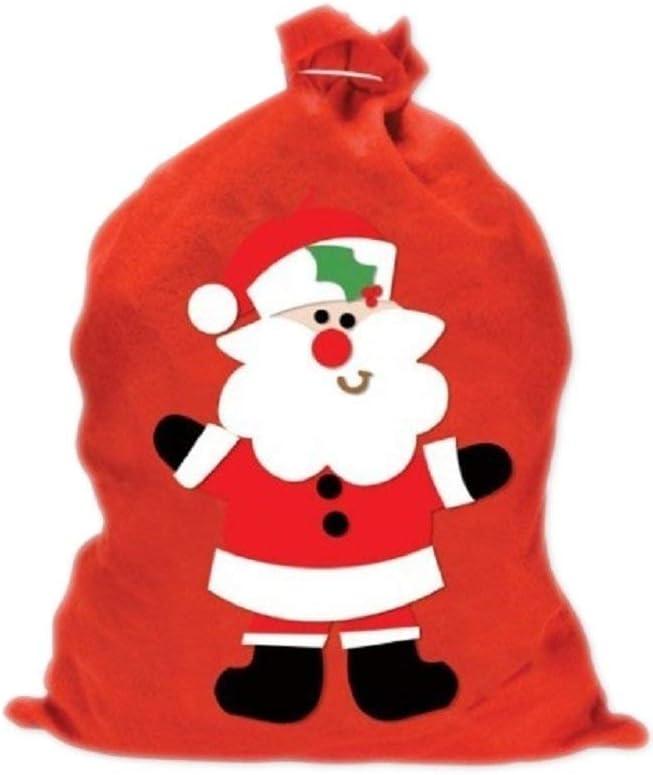 Big Red Felt Christmas Santa Bag Sack Presents Gift Cute Kids Childrens