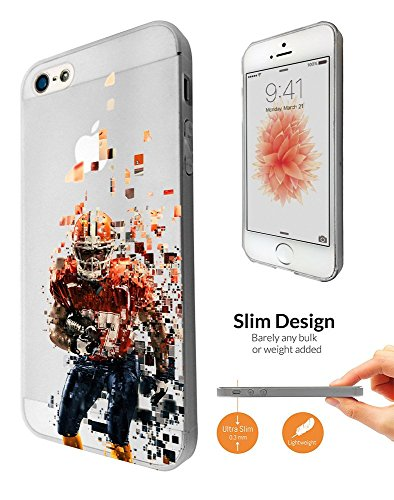 C0777   American Sport Football Player Super Bowl Design Iphone Se 2016   Iphone 5 5S Fashion Trend Case Ultra Slim Light Plastic 0 3Mm All Edges Protection Case Cover Clear