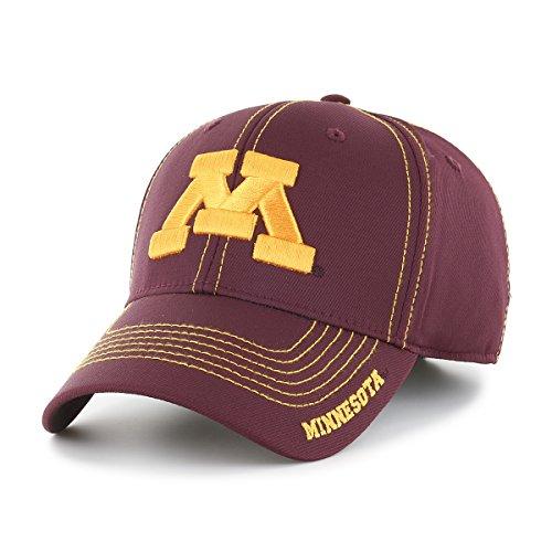 NCAA Minnesota Golden Gophers Adult Start Line Ots Center Stretch Fit Hat, Medium/Large, Dark Maroon