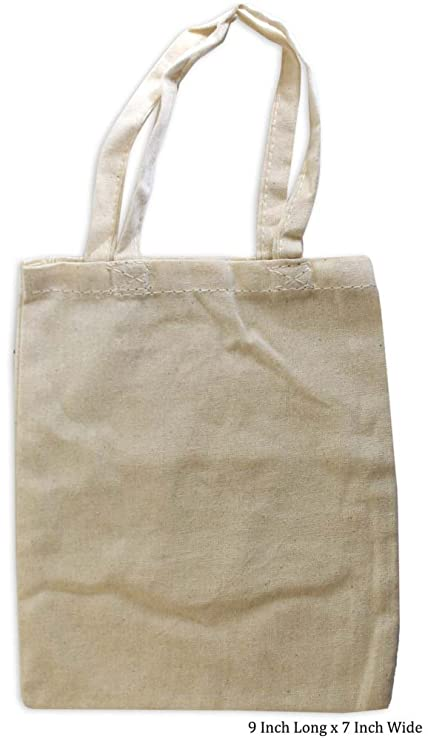 d256c56d9bf5 Image Unavailable. Image not available for. Color  ToolUSA 9 Inch Long Tote  Bag In Natural Cotton  AB-70010-Z05