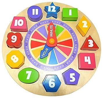 Amazon.com: Pidoko Kids Shapes Sorting and Teaching Clock - My ...
