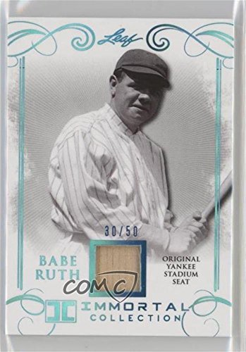 Seats Stadium Yankee - Babe Ruth #/50 (Baseball Card) 2017 Leaf Babe Ruth Immortal Collection - Yankee Stadium Seat - Blue Spectrum [Memorabilia] #YS-33