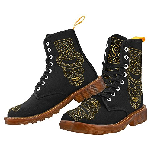For Lace With Men Shoes InterestPrint seamless Hat Fashion Lumberjack Up Boots Print pattern Skull 77Iaz4Zq