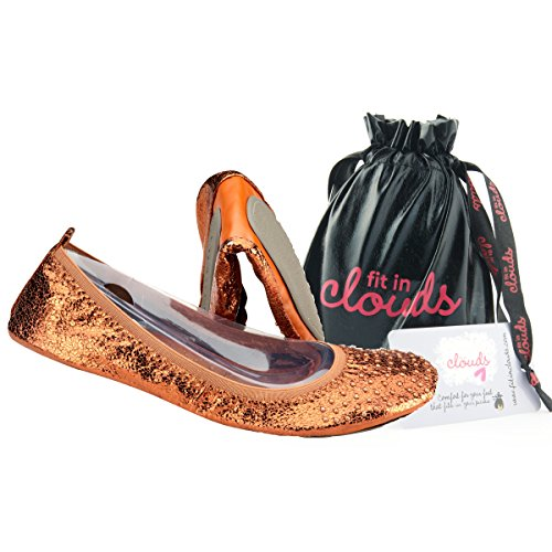 a Clouds Fit flats portable in bag In that foldable Bronze fit Fw4Tq8f4