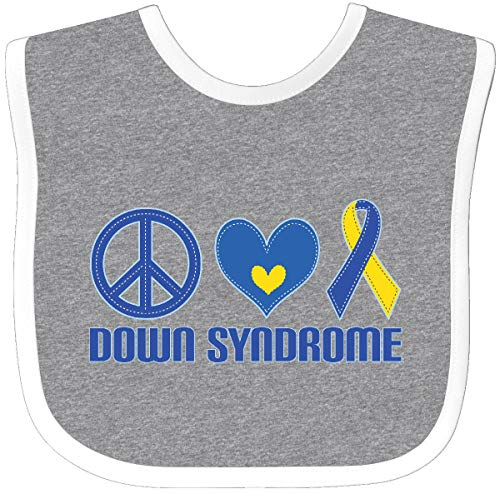 - Inktastic - Down Syndrome Awareness Baby Bib Heather/White 22026