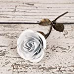 Personalized-Gift-Hand-Forged-Wrought-Iron-White-Metal-Rose-Valentines-Day-Gift