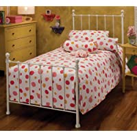 Hillsdale Furniture 1222BTWR Molly Bed Set with Rails, White, Twin
