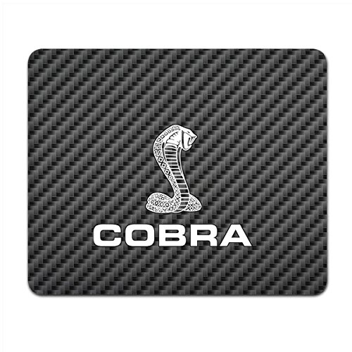 Ford Mustang Cobra Black Carbon Fiber Texture Graphic PC Mouse Pad , Made in USA