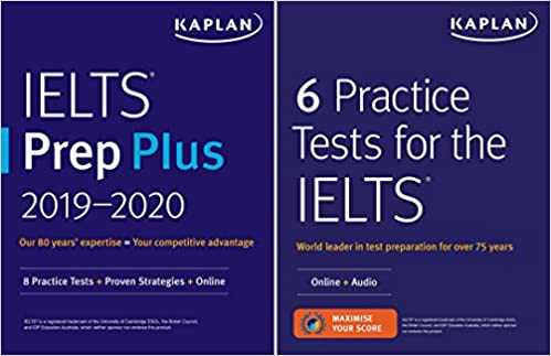 Amazon com: IELTS Prep Set: 2 Books + Online (Kaplan Test