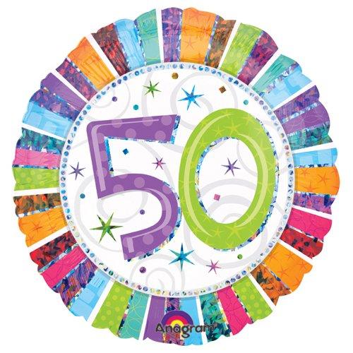 Anagram 16071 Radiant Birthday 50 Foil Balloon 18 Multicolored