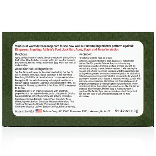 Defense Soap, Peppermint, Ounce Bar Tea and