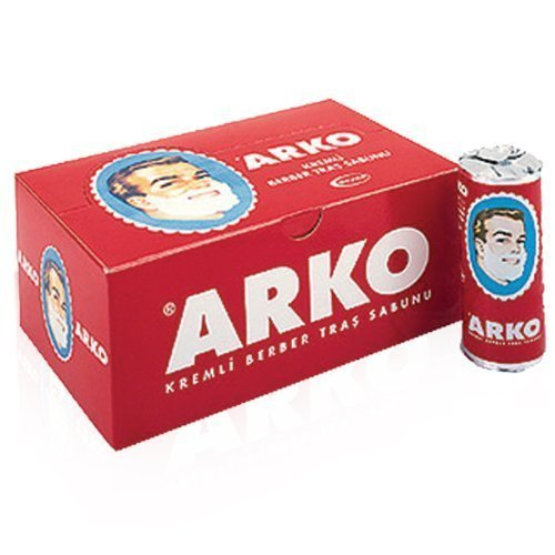 Arko Shaving Cream Soap Stick - 12 Pieces by EVYAP by EVYAP