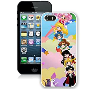 Hot Sale iPhone 5 5S Case ,Sailor Moon White iPhone 5 5S Cover Unique And Popular Designed Phone Case
