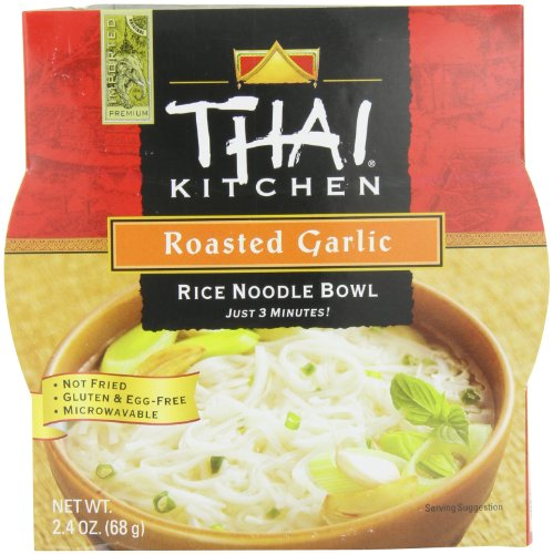 Thai Kitchen Rice Noodle Bowl, Roasted Garlic, 2.4 Ounce (Pack of 6)