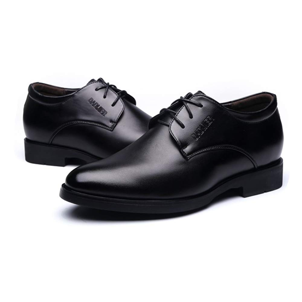 Hishoes Men's Lace Up Business Oxfrods PU Leather Loafer Elevator Shoes 2''/(6cm) Taller Removable Height Increasing Insole Anti-Slip (Color : Black, Size : 8 D(M) US) by Hishoes (Image #3)