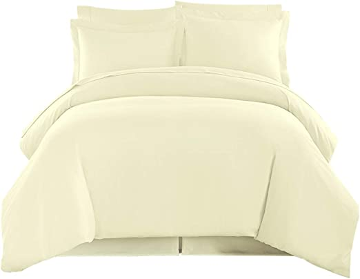 Ivory Stripe Bed Sheet Set All Extra Deep Pkt /& Sizes 1000 TC Pure Egypt Cotton