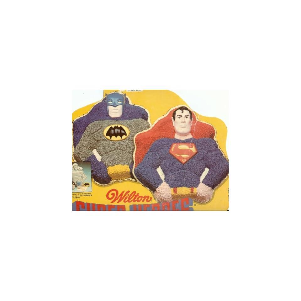 Wilton Super Heroes Batman / Superman Cake Pan (502 1212, 1977) DC Comics