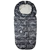 7AM Enfant Blanket 212 Evolution, Wind and Water-Resistant, Universal and Versatile Stroller and Car Seat Footmuff, Best for Freezing Winter Conditions (Print Black Geo, One Size 0-4T)