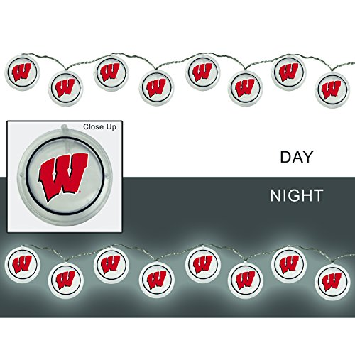 Team Sports America University of Wisconsin-Madison Outdoor Safe Battery Powered String Light Set