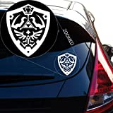 zelda auto decal - Hylian Shield From Zelda Decal Sticker for Car Window, Laptop and More. # 818 (6