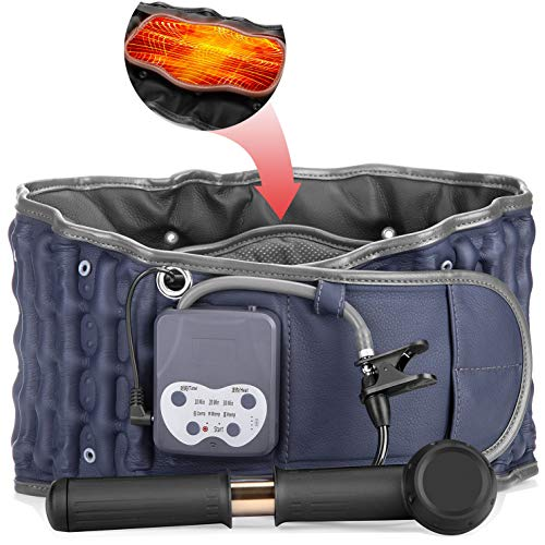 Cordless Far Infrared Heating Decompression Belt with Rechargeable Battery for Lower Back Pain Relief, Portable Lumbar Traction Device, One Size Fits 29-49 Waists