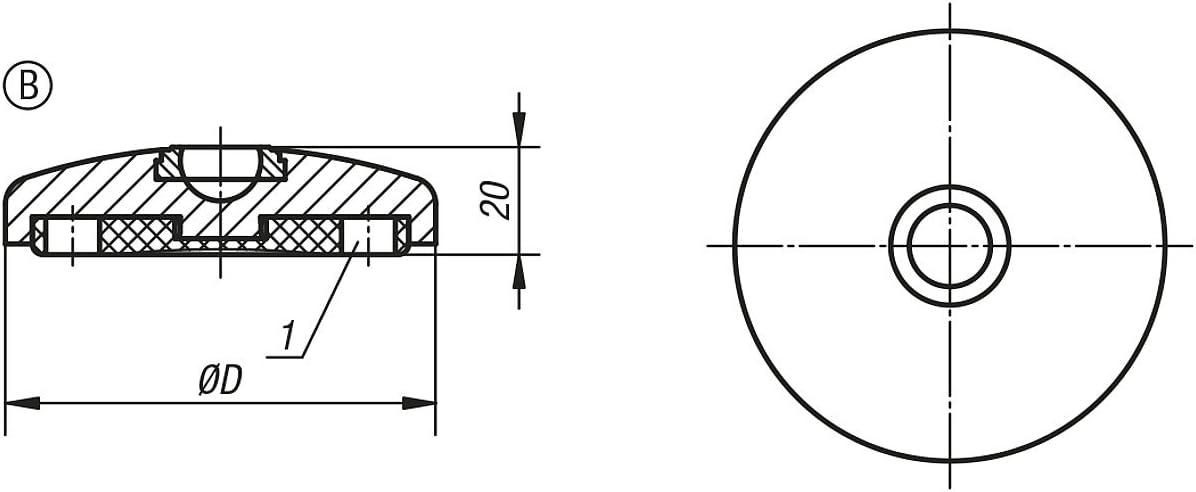 k0416.21202 Tilting Plate Anti Slip Plate//B Stainless Steel 1/Piece