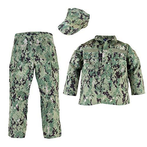 (Trooper Clothing NWU Type III/AOR II 3pc Navy Youth Uniform Set (Small)