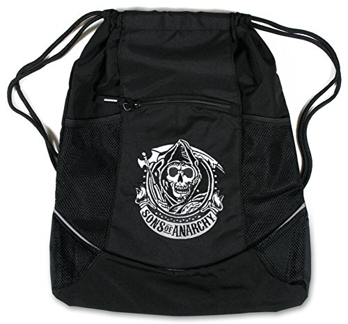 Sons Of Anarchy   Reaper Logo Drawstring Bag 15 X 19In