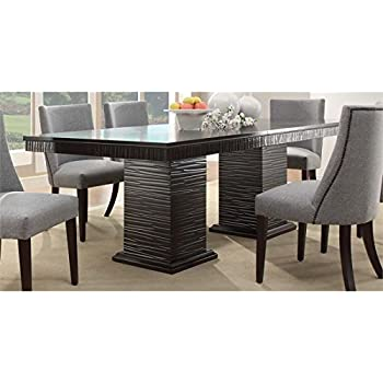 Amazoncom Homelegance Chicago Double Pedestal Dining Table in