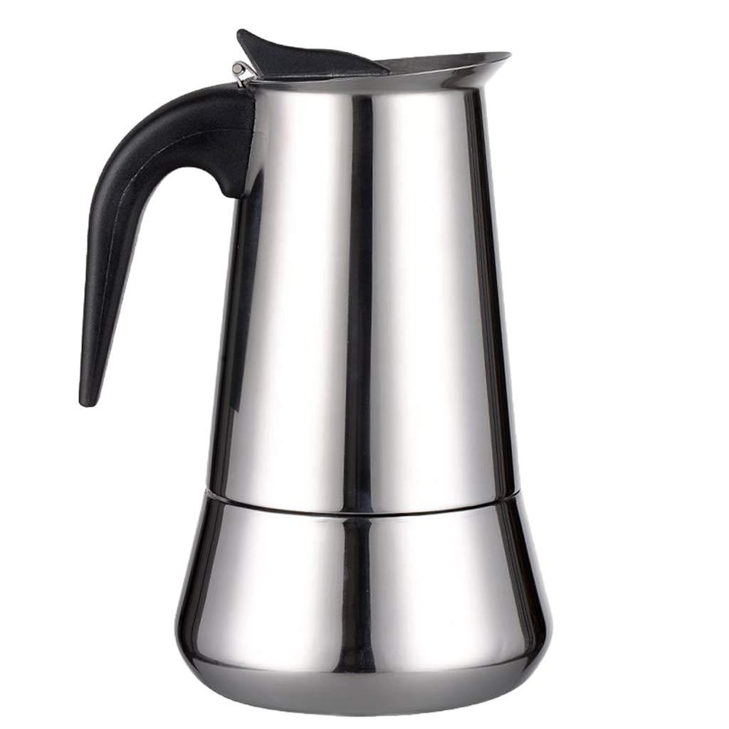 Baoblaze Edelstahl Espressokocher Kaffeekocher Espresso-Kanne f/ür 2//4 6//9 Tassen 2 Tasse