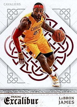 2015-16 Panini Excalibur #51 LeBron James Cleveland Cavaliers Basketball Card in Protective Screwdown
