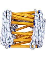 Touwladder Brandwerende Reddingsladder Brandladder Zware Multifunctionele Ladder Met Karabijnhaken, Perfect Voor Ramen En Balkons, In De Brandsnelladder