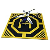 Ultra Sleek and Stylish RC Remote Control Helicopter Drone Landing Pad Helipad 12-inch by 12-inch - Made for Mini Drones and RC Helicopters