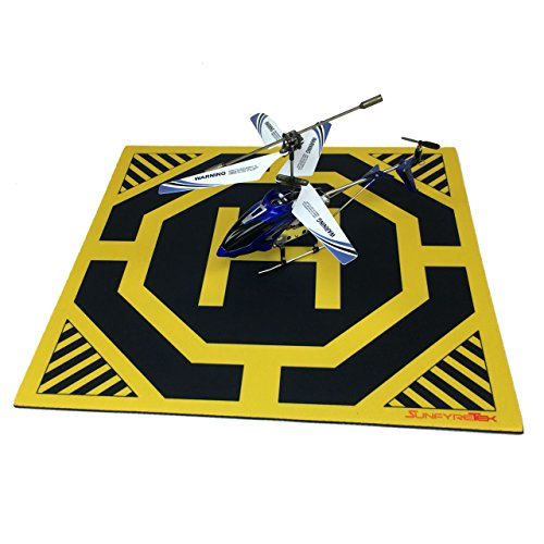 Ultra Sleek and Stylish RC Remote Control Helicopter Drone Landing Pad Helipad 12-inch by 12-inch - Made for Mini Drones and RC Helicopters ()