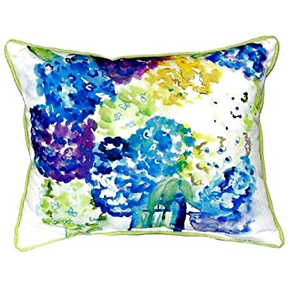 Betsy Drake Interiors Hydrangea Indoor/Outdoor Lumbar Pillow Gallery