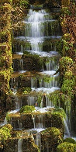 Artland Cristal – cuadro de Thomas Herzog Agua Escaleras Paisajes Aguas cascada fotografía verde 60 x 30 x 1,1 cm: Amazon.es: Hogar