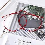 Tarsus 7 Knots Kabbalah Red String Bracelet