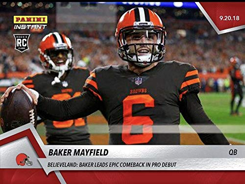 29637052d 2018 Panini Instant NFL Football  34 Baker Mayfield RC Rookie Cleveland  Browns Official Trading Card Online Exclusive Print Run 601