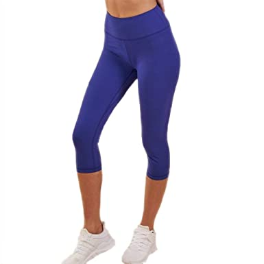 Pantalones De Yoga Capri De Mujer Pantalones Cintura Stretch ...