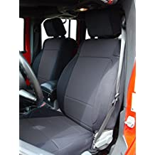Coverking Custom Fit Seat Cover for Jeep Wrangler JK 4-Door - (Neoprene, Solid Black)