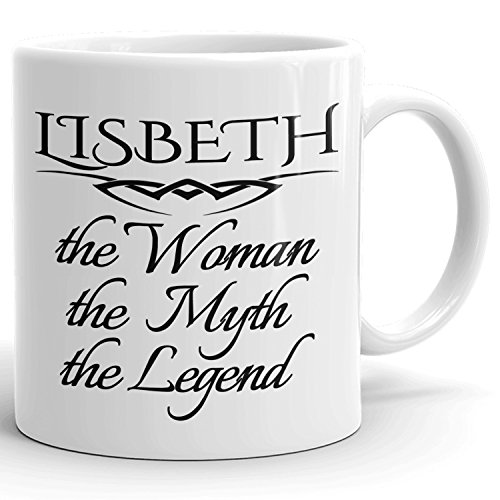 Best Personalized Womens Gift! The Woman the Myth the Legend - Coffee Mug Cup for Mom Girlfriend Wife Grandma Sister in the Morning or the Office - L Set 5